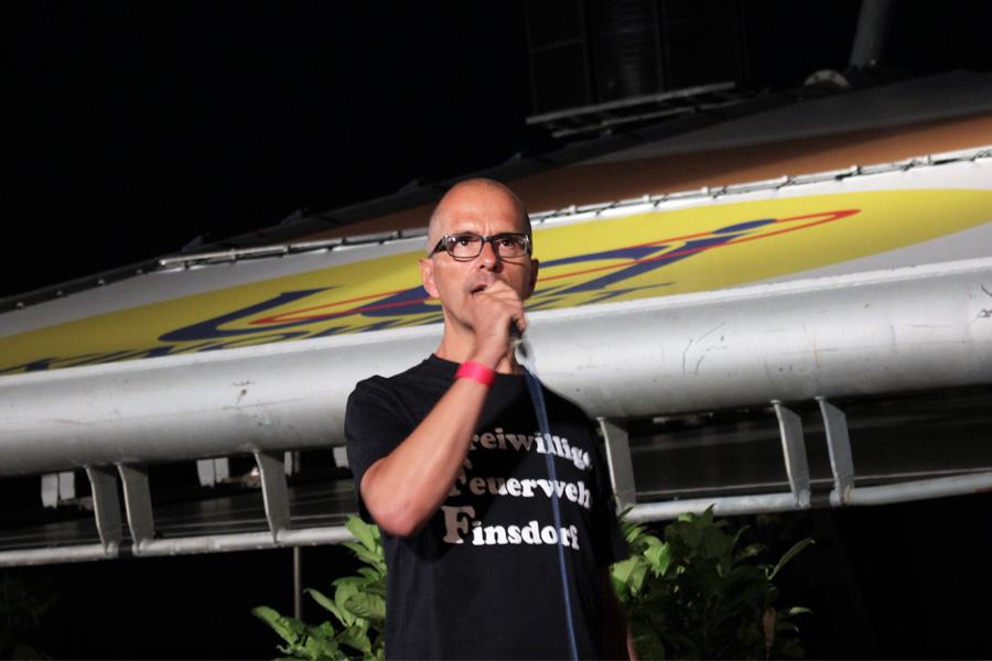 Christoph Maria Herbst während seines ersten Besuchs im Open Air Kino (Foto: Sven Kukulies)