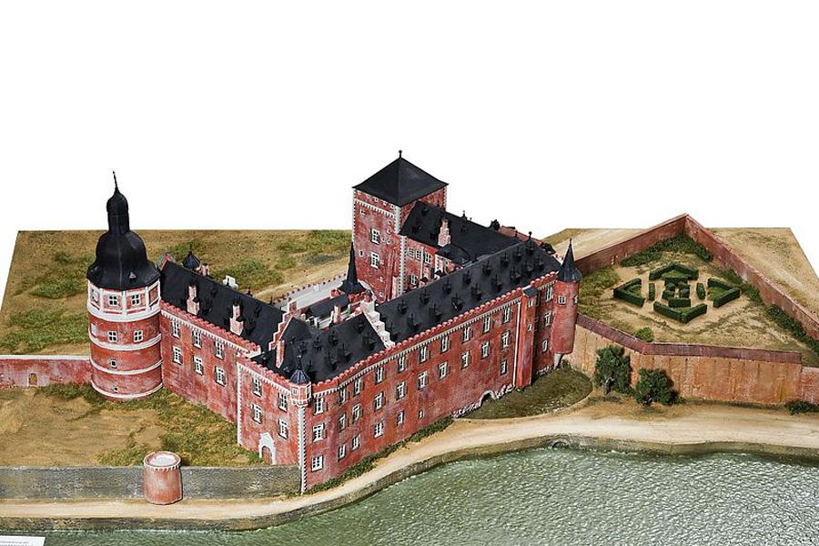 Düsseldorfer Schloss um 1585, 1998, Modell, verschiedene Materialien, Stadtmuseum Düsseldorf (Foto: Medienzentrum Rheinland/Stefan Arendt)