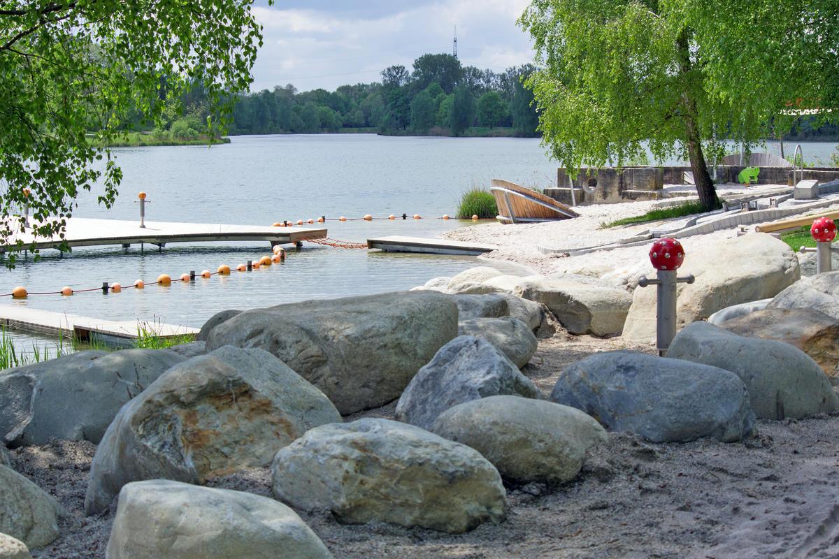Die Radtour führt zum Donauwurm am Baggersee (Foto: Stadt Ingolstadt / Kroll)