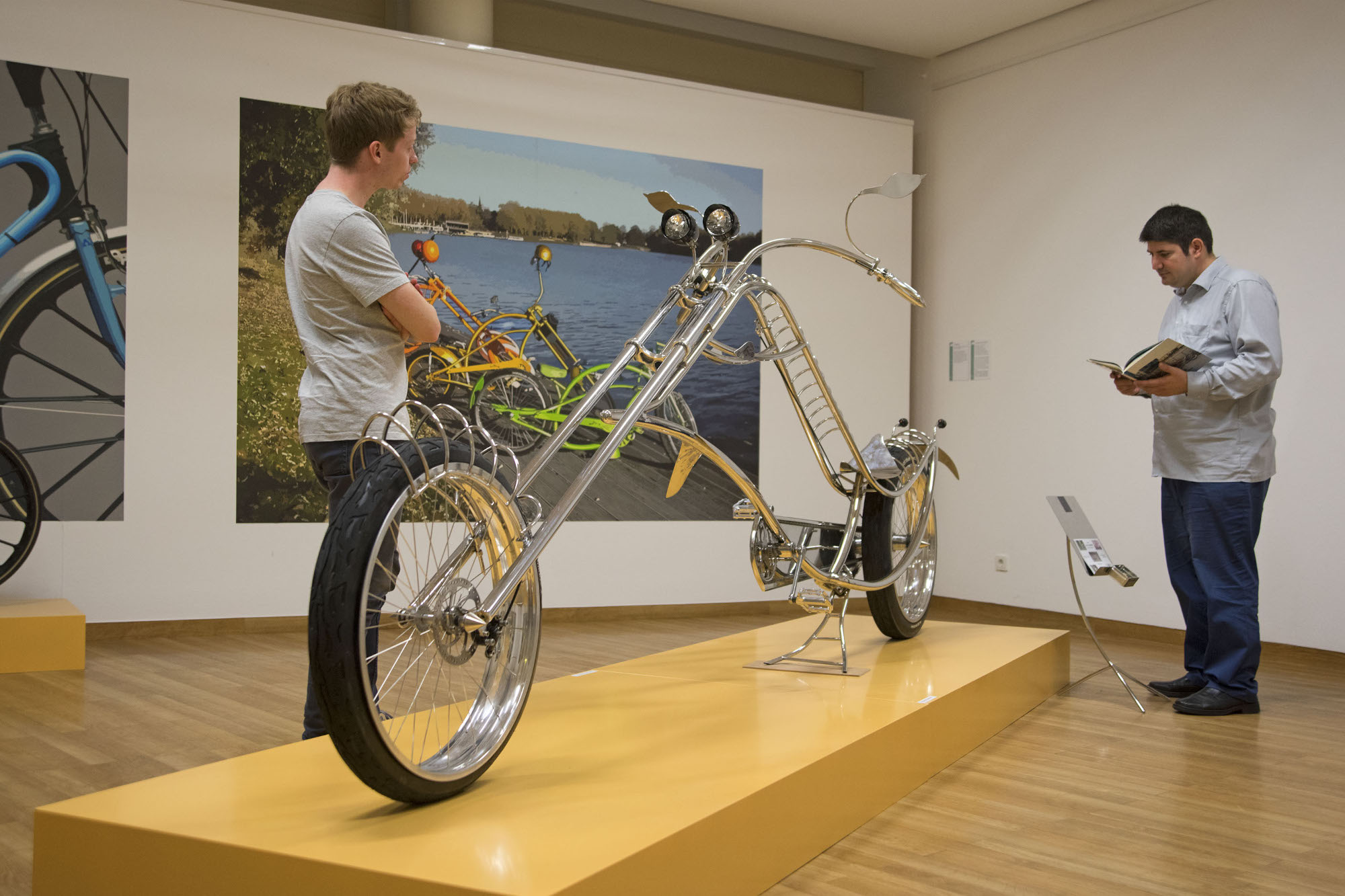 "Chopperbike ""The Dolphin"" (Foto: Stadt Münster)"