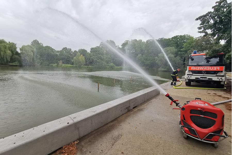 Frisches Wasser für Düsseldorfer Gewässer (Foto: Stadt Düsseldorf)