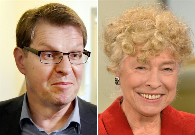 Schwan und Stegner präsentieren sich als Kandidaten für den SPD-Vorsitz (© 2019 AFP)