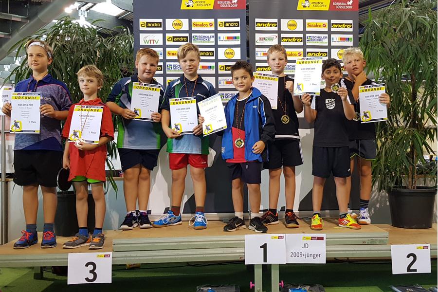 Siegerehrung bei den 30. andro Kids Open (Foto: Jörg Fuhrmann)