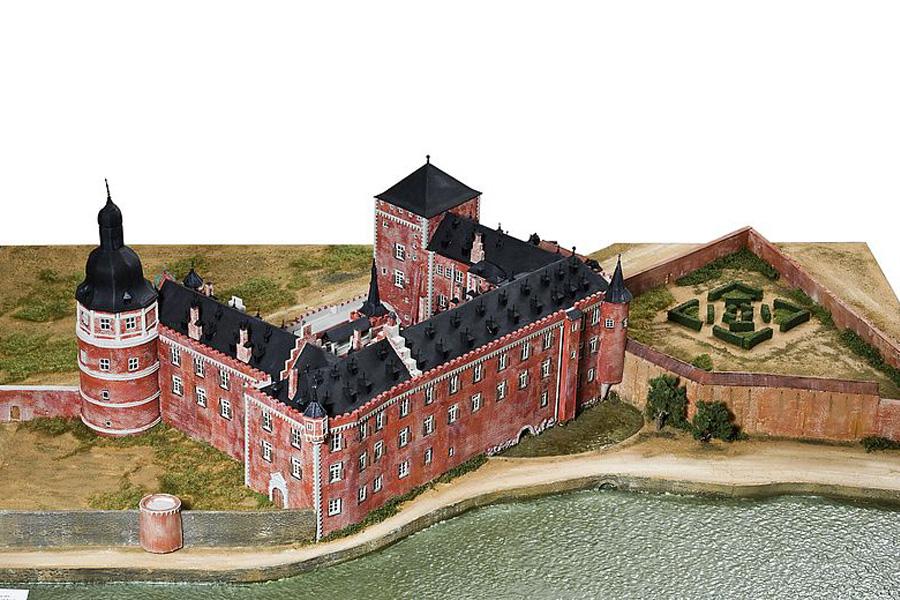 Düsseldorfer Schloss um 1585, 1998, Modell, verschiedene Materialien, Stadtmuseum Düsseldorf R4 (Foto: Medienzentrum Rheinland/Stefan Arendt)