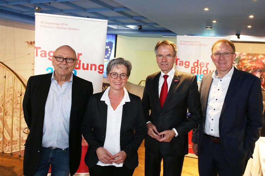 Rolf Kessler, Dagmar Wandt, Andreas Ehlert und Gregor Berghausen (Foto: Stadt Düsseldorf/Ingo Lammert)