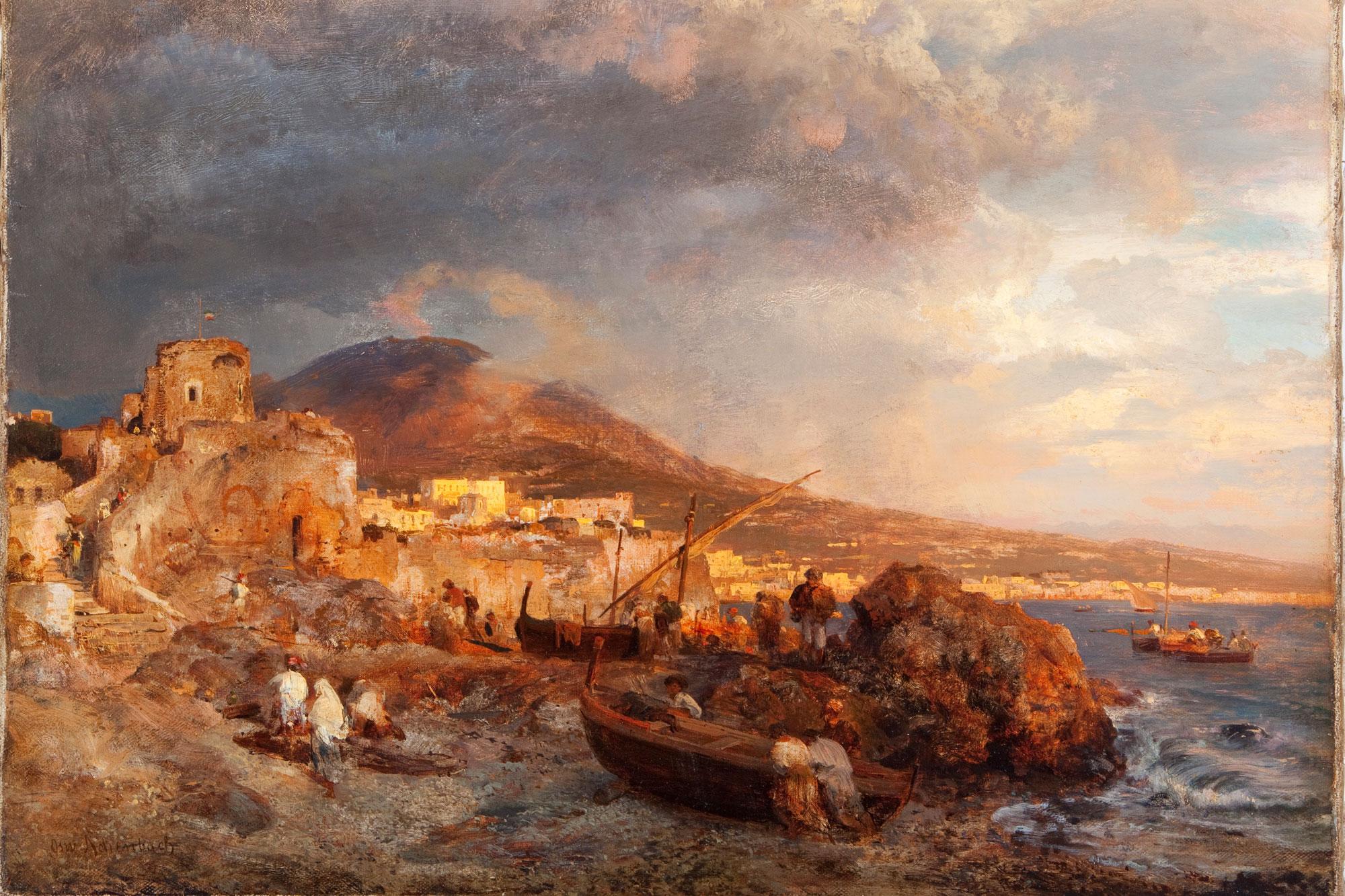 Oswald Achenbach (1827 – 1905) Bucht von Neapel Öl auf Leinwand, 45 x 64 cm Dr. Axe-Stiftung, Bonn. (Foto: Stadt Braunschweig)