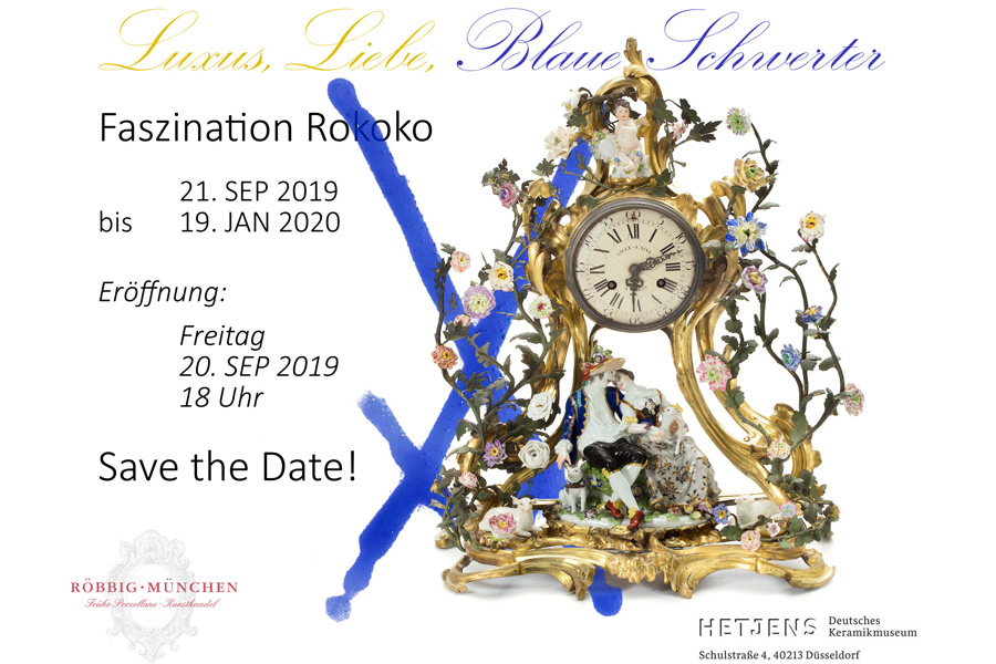 "Ausstellung ""Liebe, Luxus, Blaue Schwerter - Faszination Rokoko"" (Foto: Hetjens - Deutsches Keramikmuseum)"