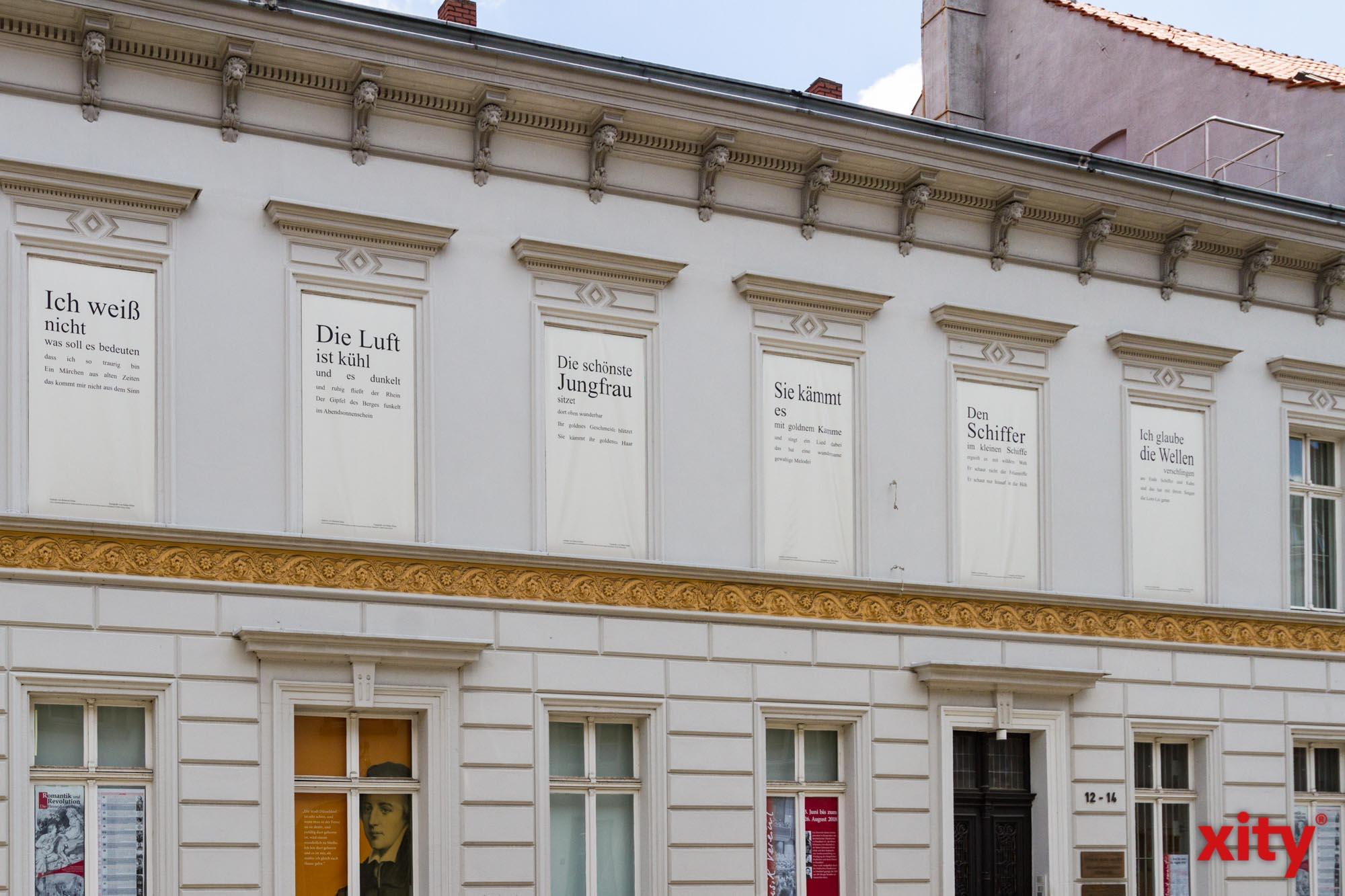 """Sonderausstellung """"Ideen! Zur Straße der Romantik und Revolution"""" im Heinrich-Heine-Institut (Foto: xity)"""