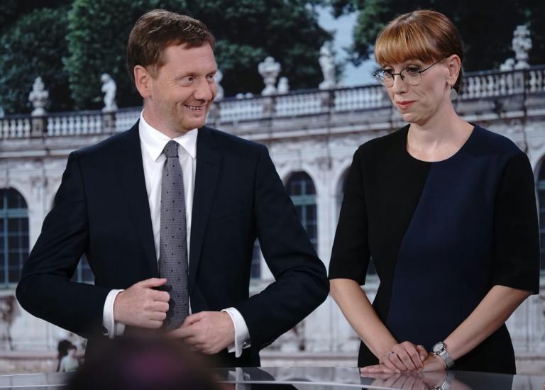 Nach Landtagswahl in Sachsen starten CDU, Grüne und SPD Sondierungsgespräche (© 2019 AFP)