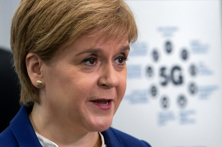 Schottische Regierungschefin Sturgeon mit Medienpreis M100 ausgezeichnet (© 2019 AFP)