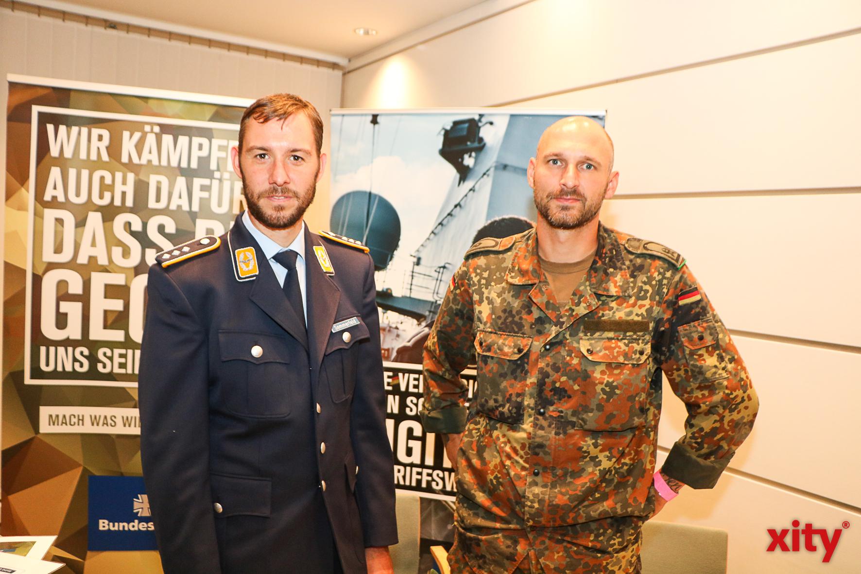 """Auch die Bundeswehr war bei """"Beruf Konkret"""" dabei (Foto: xity)"""