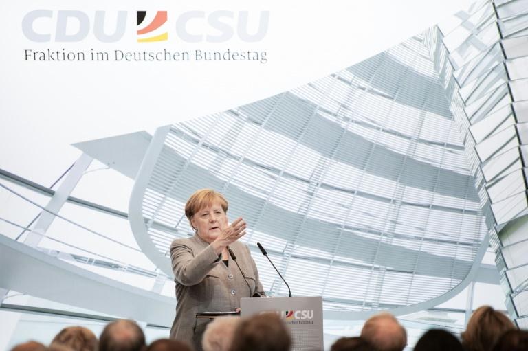 Merkel: Klimaschutz muss nicht zu Lasten des Wirtschaftswachstums gehen (© 2019 AFP)
