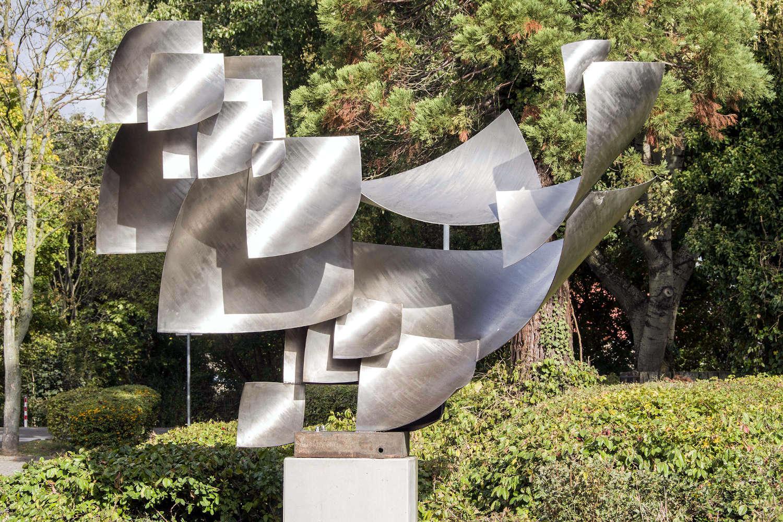 """Einweihung der Skulptur """"Licht- und Luftfänger"""" von Will Brüll. (Foto: Uwe Köppen / Stadt Duisburg)"""