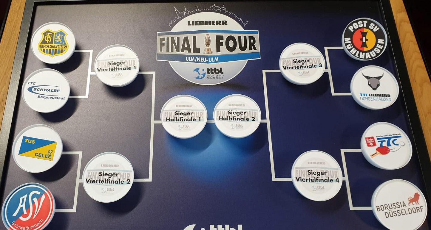 Ausgeloste Spiel-Paarungen für das Pokal-Viertelfinale (Foto: Borussia Düsseldorf)