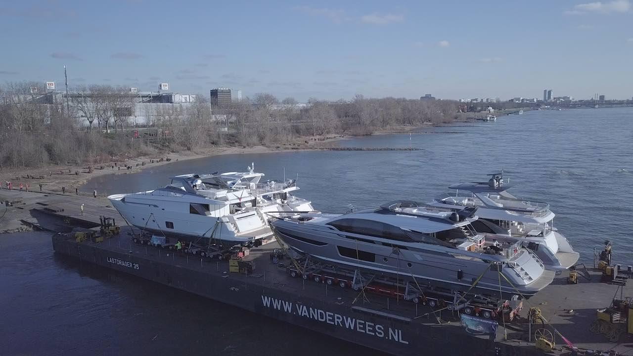 Für die Boot 2020 sind sechs Luxusyachten angekommen (Quelle: MHoch4)