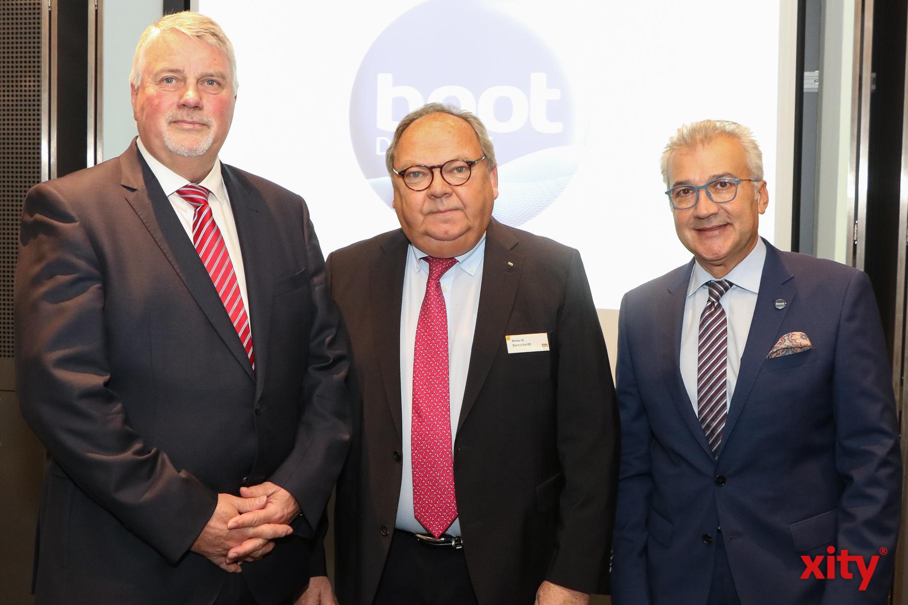 Jürgen Tracht, Werner Matthias Dornscheidt und Petros Michelidakis (Foto: xity)