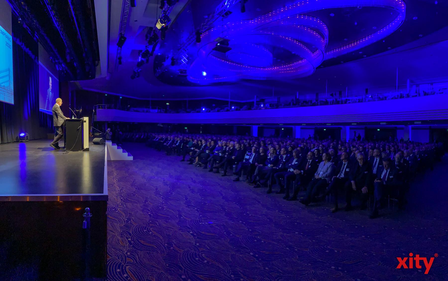 Die IHK zeigte sich beim Jahresempfang entschlossen, die Herausforderungen des neuen Jahres anzugehen (Foto: xity)