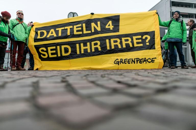 430 Anhänger von Fridays for Future protestieren vor Steinkohlekraftwerk Datteln (© 2020 AFP)