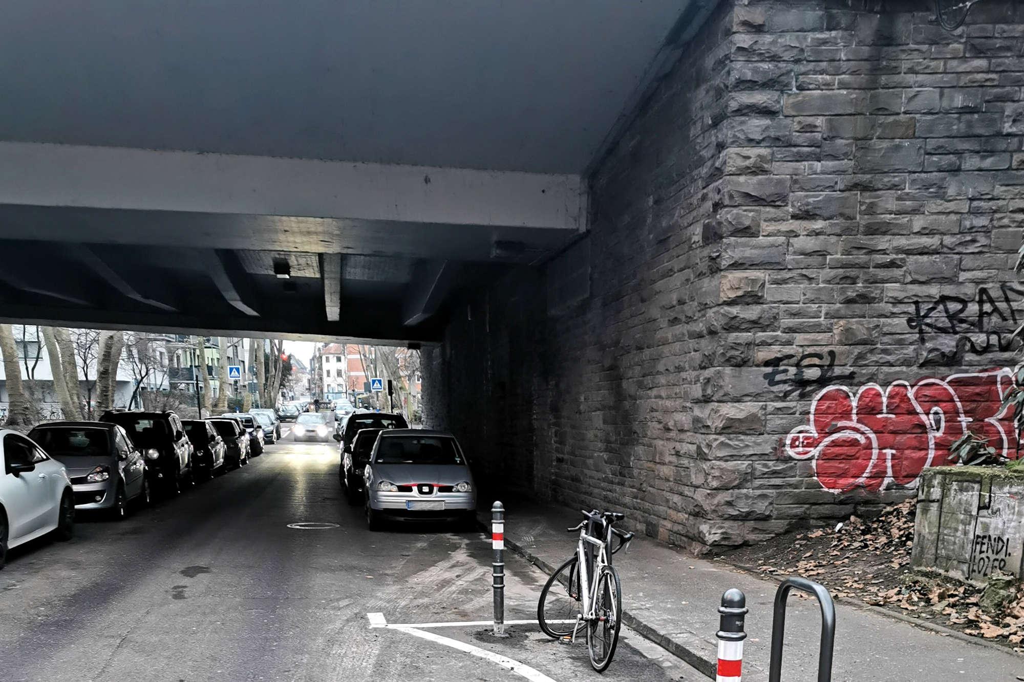 """""""Im Sionstal"""" für Fahrräder in Gegenrichtung offen"""