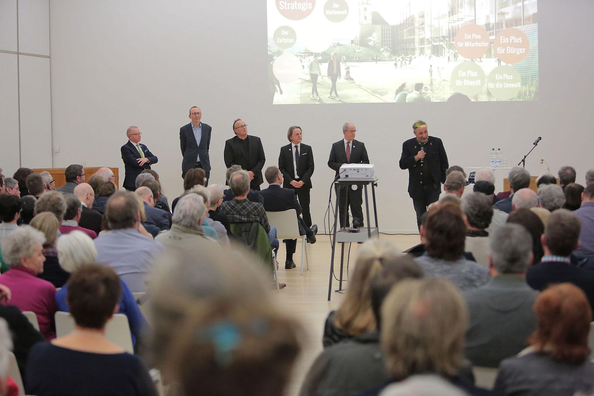 Bürgerinformationsveranstaltung Rathaus der Zukunft mg+. (Foto: Stadt MG)