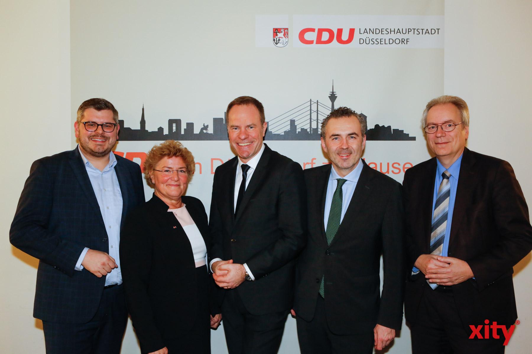 Peter Blumenrath, Sylvia Pantel, Dr. Stephan Keller, Thomas Jarzombek und Rüdiger Gutt (Foto: xity)