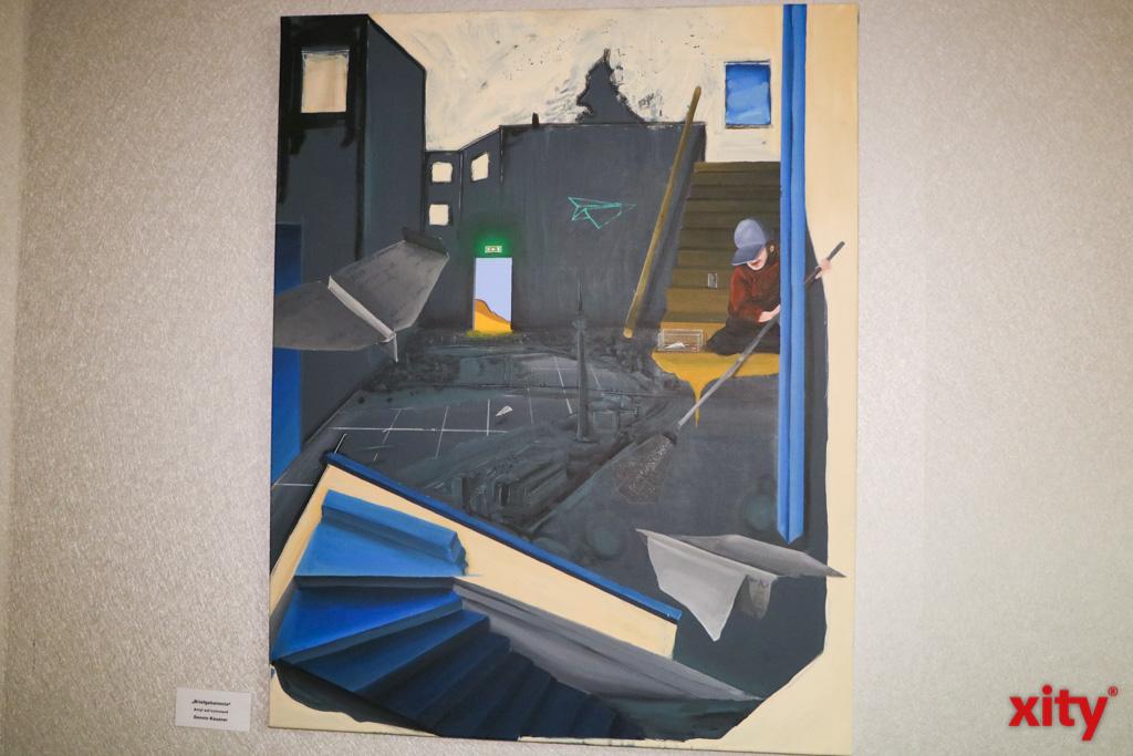"""Briefgeheimnis"" Dennis Kauzner, Acryl auf Leinwand (Foto: xity)"