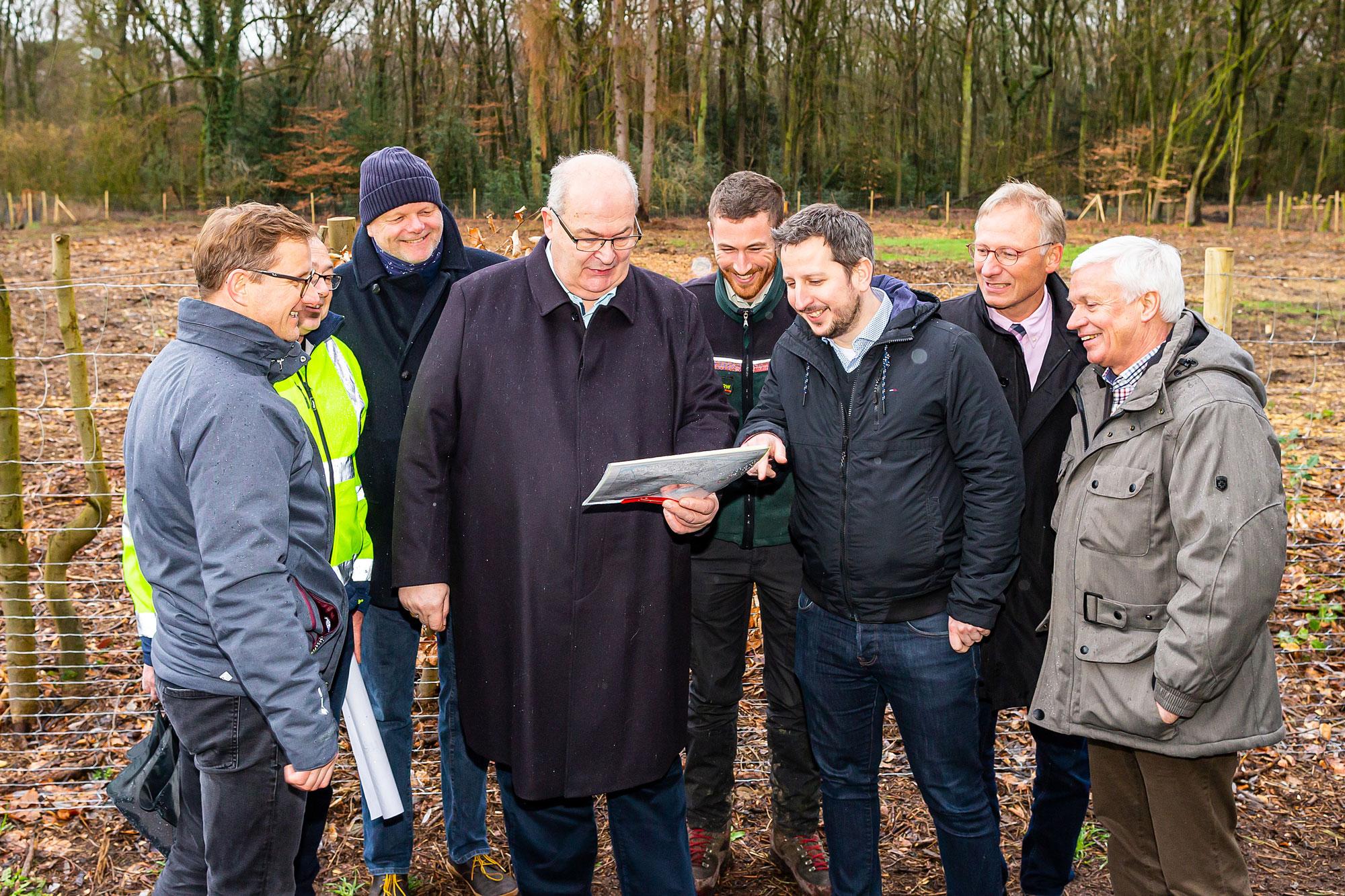 Pflanzung Klimawald 2020. (Foto: Stadt Hamm)