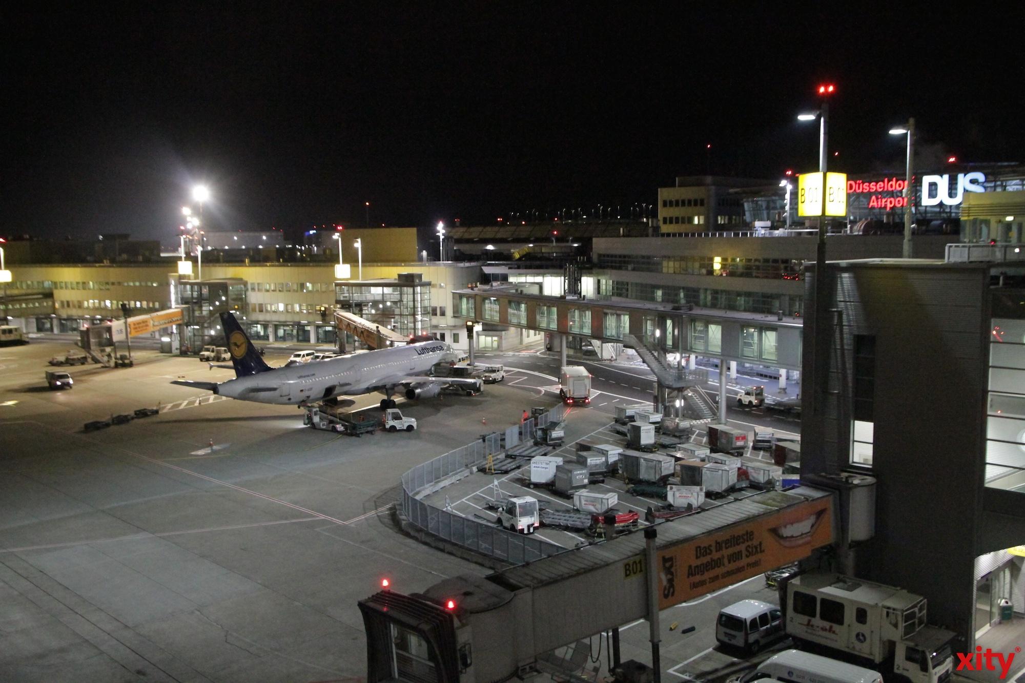 Über 76 Prozent weniger Nachtflugbewegungen am Düsseldorfer Airport im Januar 2020 (Foto: xity)
