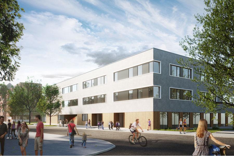 Geplanter Neubau Haus der Jugend (Foto: bap - Hetschold, Sunder, Kurz PartG mbB Architekten, 2019)