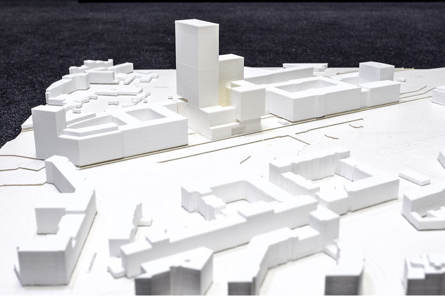 Massenermittlung für den Standort Moskauer Straße (Foto: Stadt Düsseldorf/Uwe Schaffmeister)