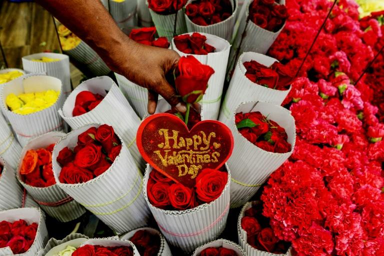 Preise für Schnittblumen ziehen rund um den Valentinstag in der Regel etwas an (© 2020 AFP)