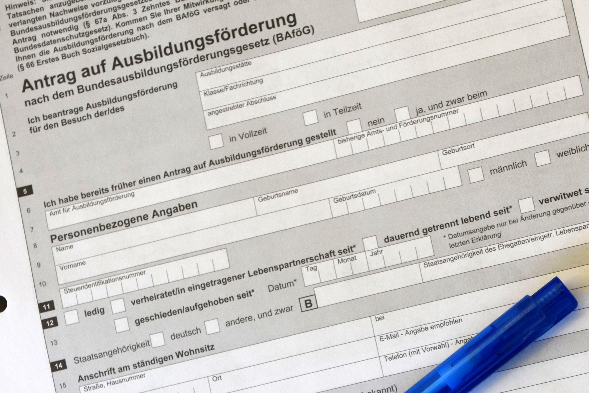 Antrag Bafög. (Foto: UvK/Ennepe-Ruhr-Kreis)