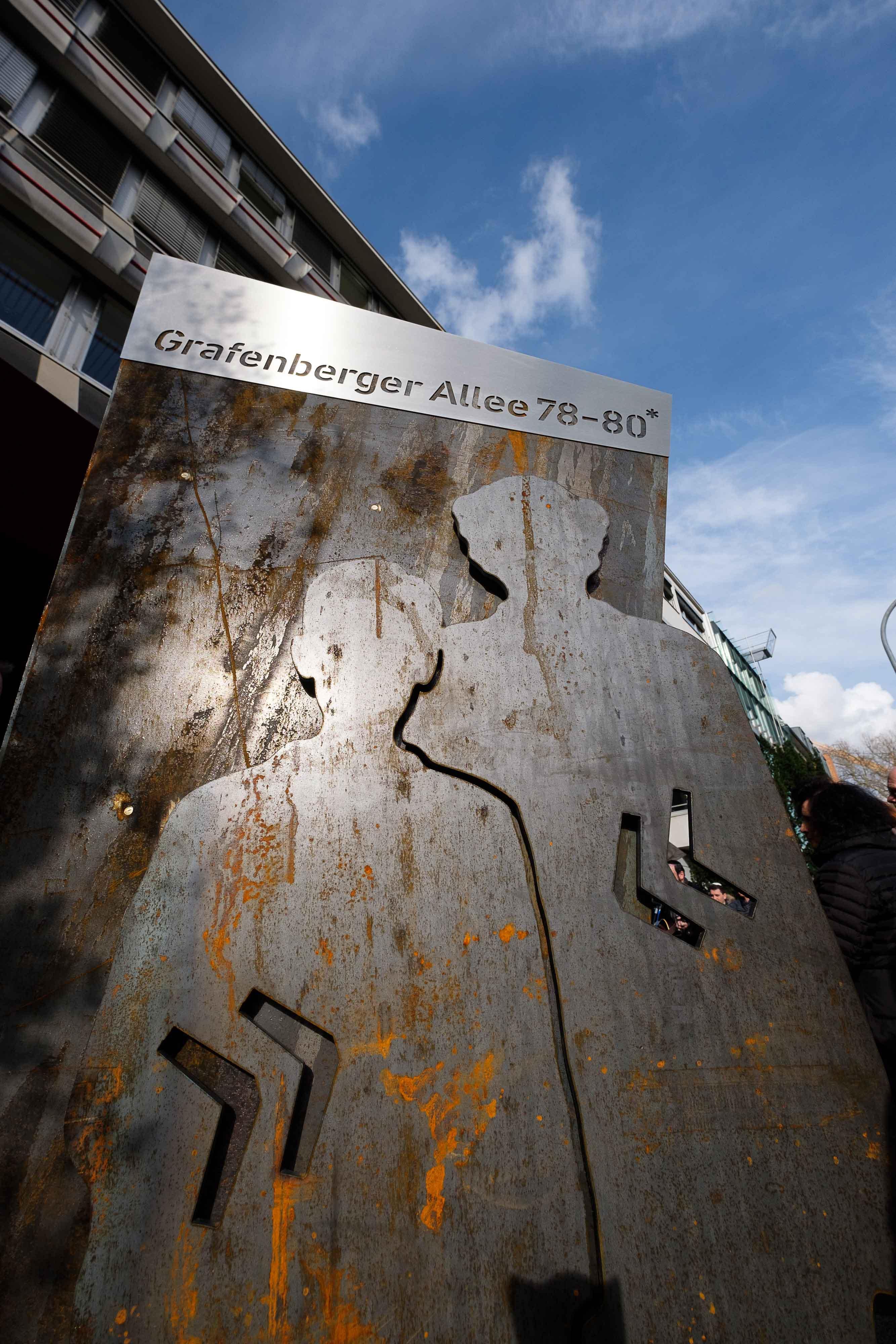 Erinnerungszeichen wird zukünftig an der Grafenberger Allee 78 auf die besondere Historie hinweisen (Foto: Stadt Düsseldorf/Uwe Schaffmeister)