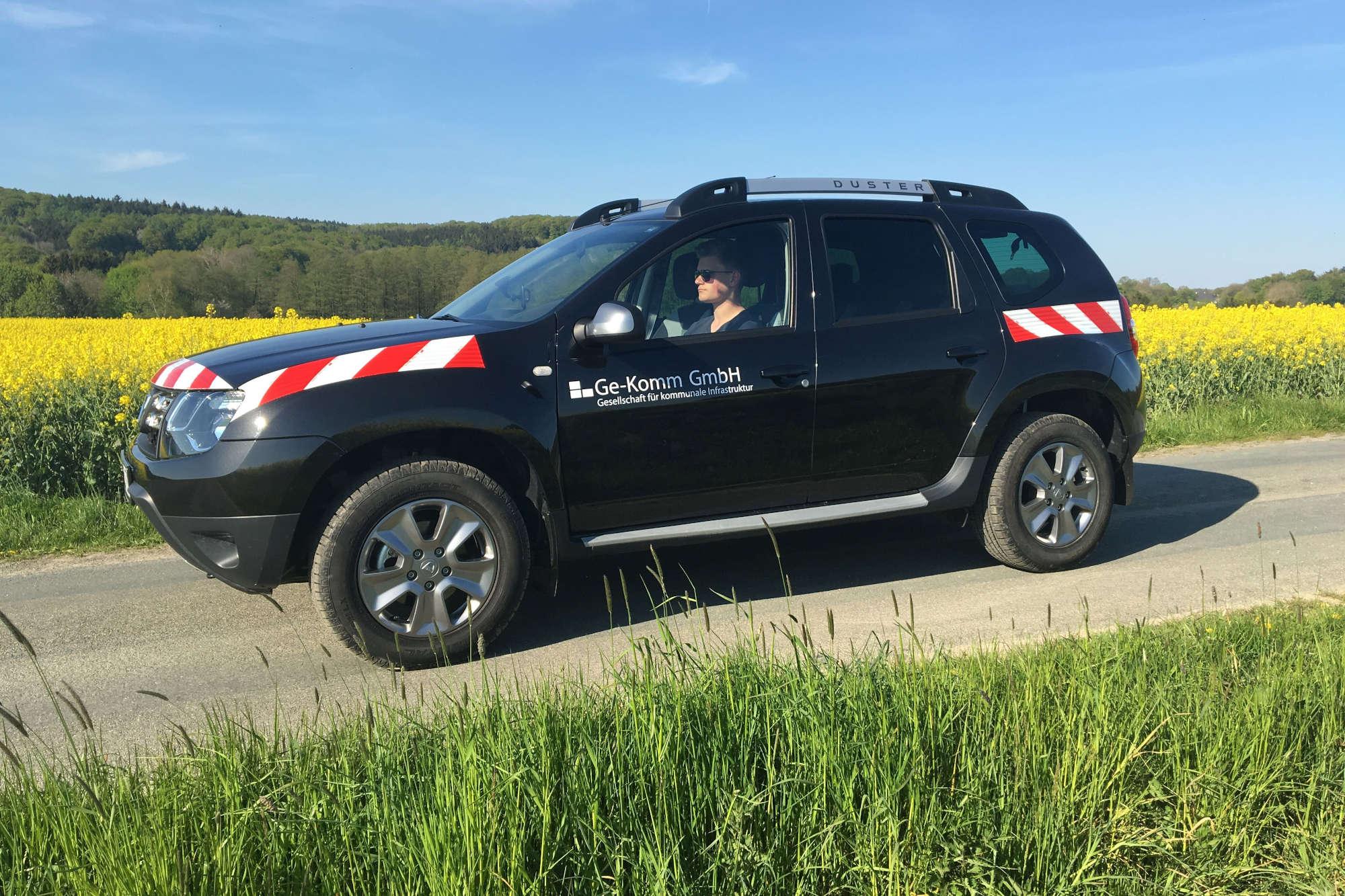 Mit diesen Geländewagen werden die Wirtschaftswege in Hamm abgefahren. (Foto: Stadt Hamm)
