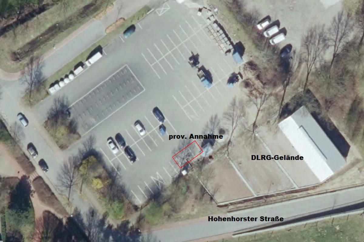 Provisorische ESB-Annahmestelle für Grün am Aasee Bocholt. (Foto: Stadt Bocholt)