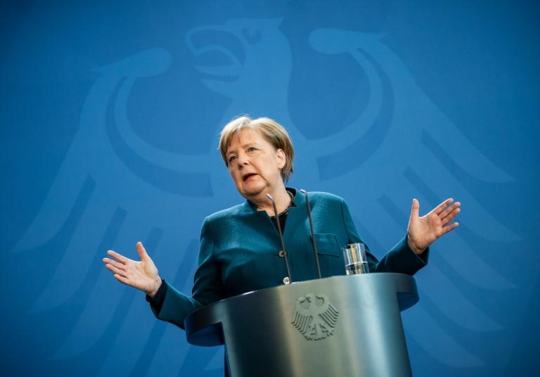 Merkel leitet Kabinettssitzung zu Corona-Maßnahmen von zu Hause aus (© 2020 AFP)