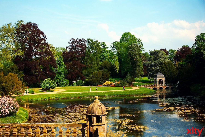 Der Park in Schloß Dyck ist weiterhin für Spaziergänger geöffnet. (Foto: xity)
