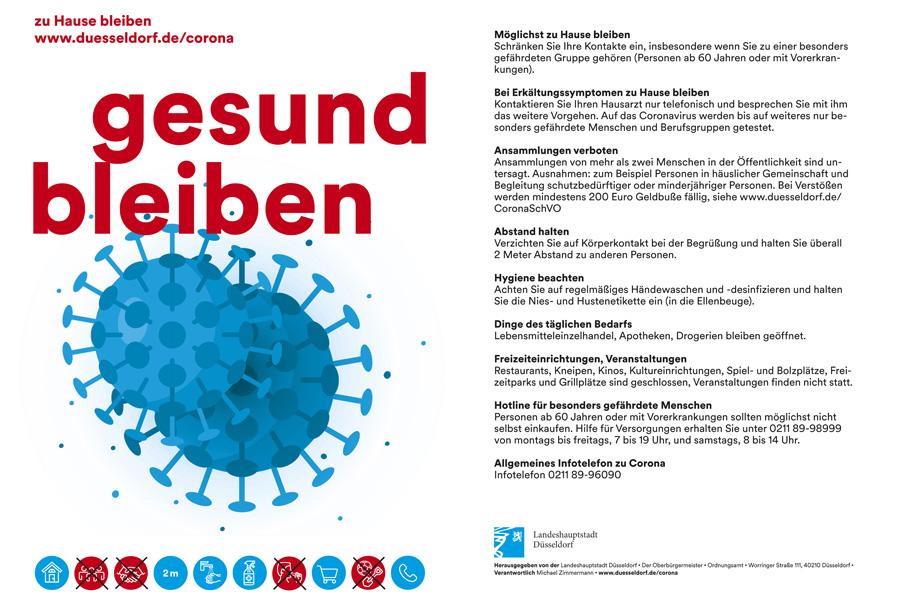Handzettel dienen ab sofort zur unterstützenden Information (Foto: Stadt Düsseldorf, Ordnungsamt)