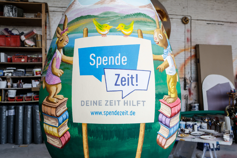 Die Osterei-Aktion 2020 des Vereins Spendezeit e.V. (Foto: xity)