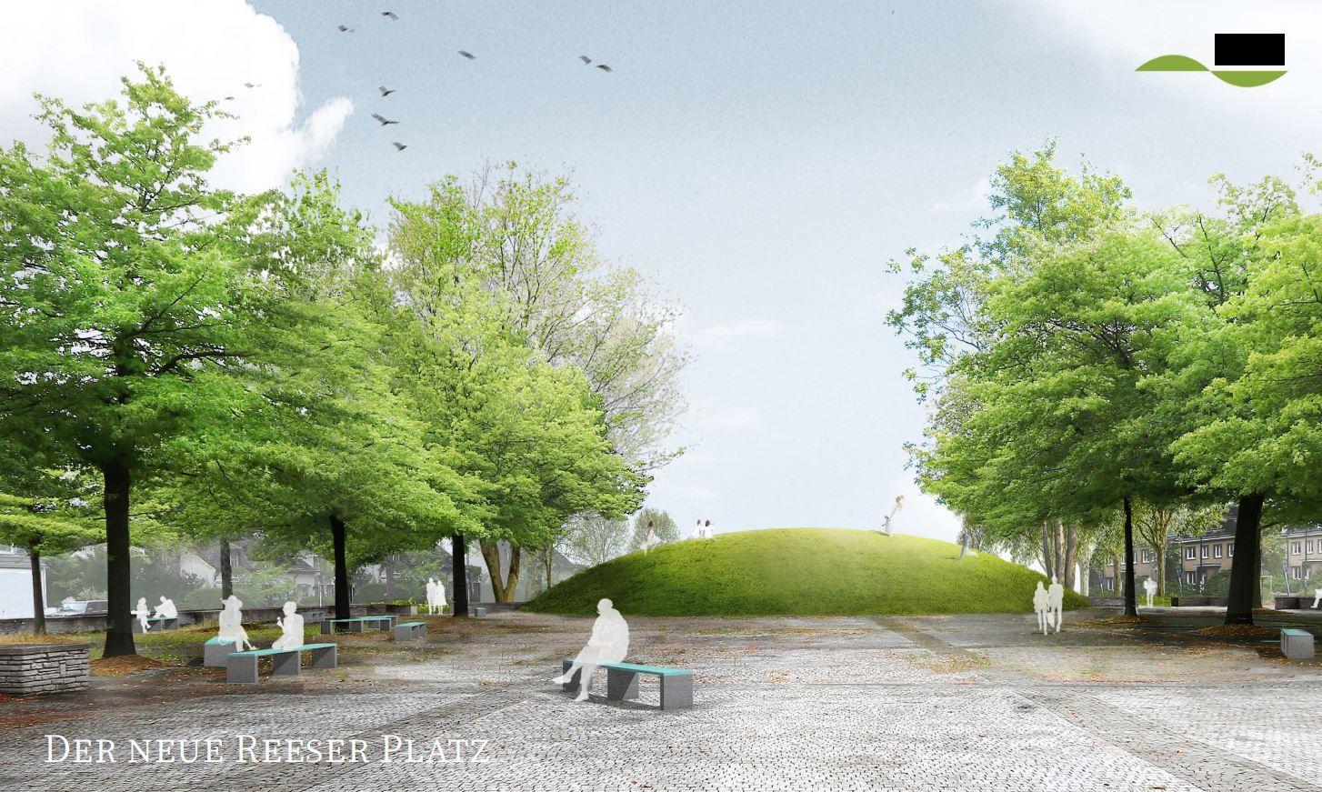 """2. Platz """"Der neue Reeser Platz"""" von Gabriele Horndasch, Düsseldorf mit Bierbaum.Aichele.landschaftsarchitekten (Foto: Gabriele Horndasch)"""