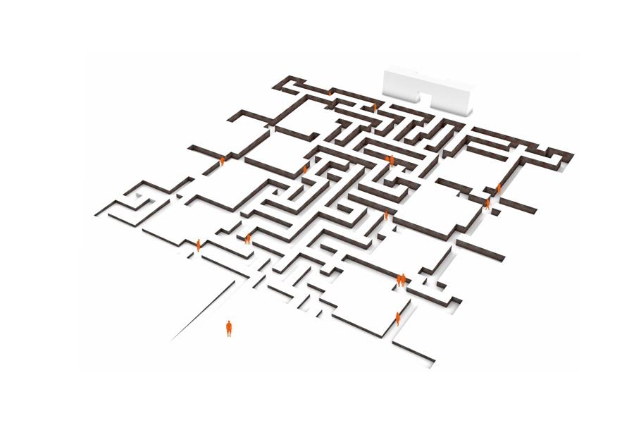 """3. Preis """"Labyrinth"""" von Heinke Haberland, Düsseldorf mit Haberland Architekten, Berlin (Foto: Heinke Haberland)"""