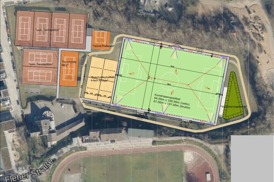 "Modernisierung des ""Sportpark Flehe"""