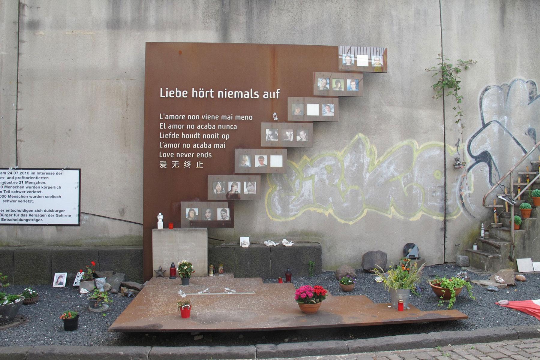 Erinnerung an die Loveparade. (Foto: Stadt Duisburg)
