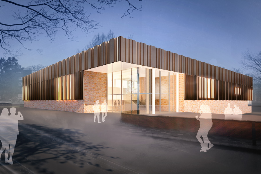 Die Fertigstellung der Dreifachsporthalle ist für Juni 2021 geplant (Foto: Stadt Düsseldorf)