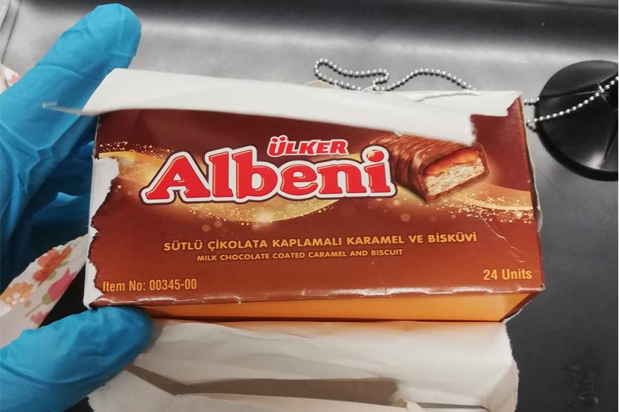 Potenzmittel in Schokoladenverpackung versteckt (Foto: Zoll)