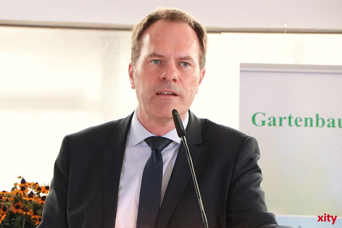 Dr. Stephan Keller besuchte den Gartenbauverband Düsseldorf (Foto: xity)