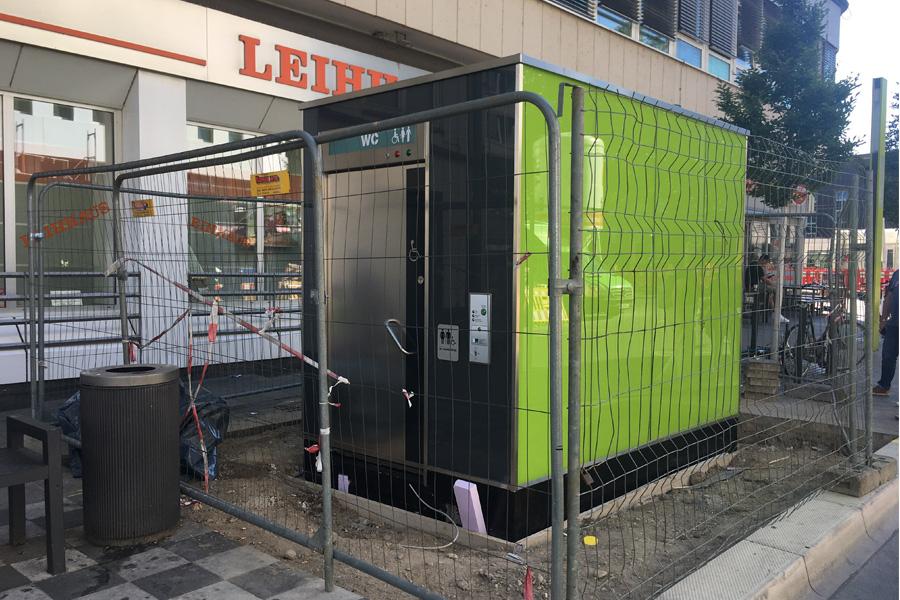 City-Toilettenanlage in Hauptbahnhofsnähe geht Mitte September in Betrieb (Foto: Stadt Düsseldorf/Amt für Gebäudemanagement)