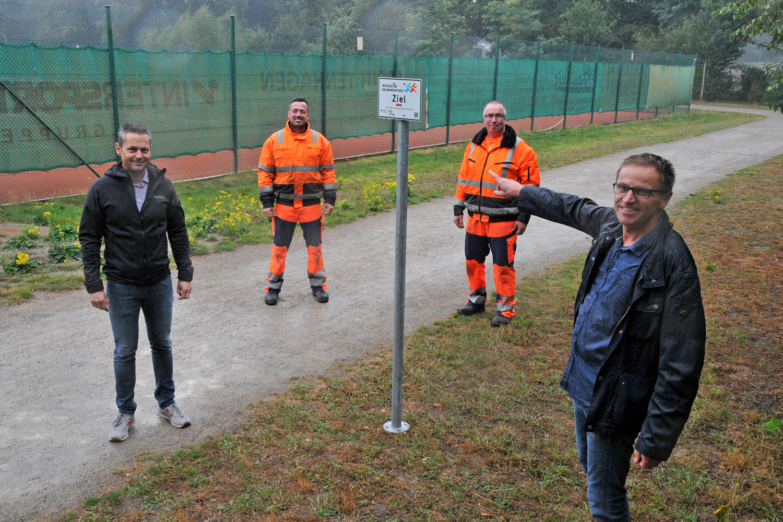 Die Strecke des Bocholter Halbmarathon ist jetzt komplett ausgeschildert. (Foto: Bruno Wansing)