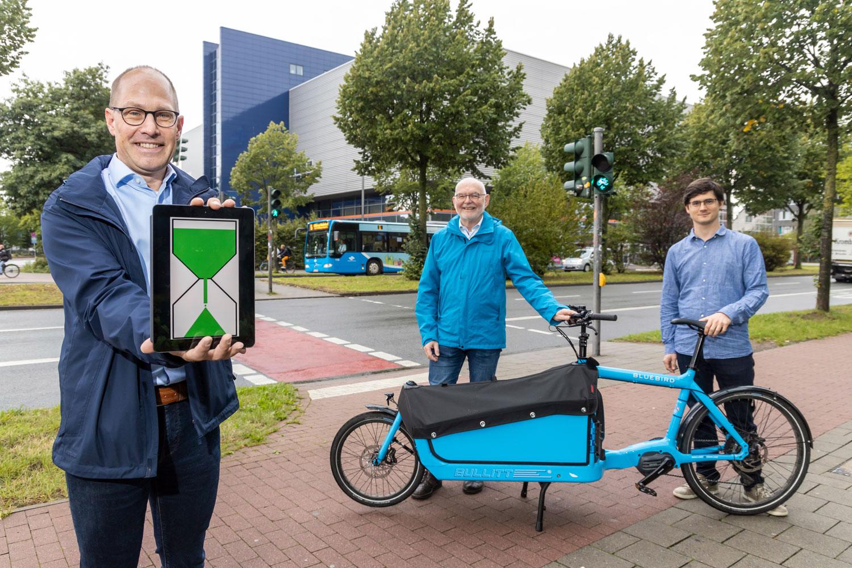 """Grüne Welle-Assistent """"Leezenflow"""" wurde vorgestellt (Foto: Presseamt Stadt Münster-Heiner Witte)"""