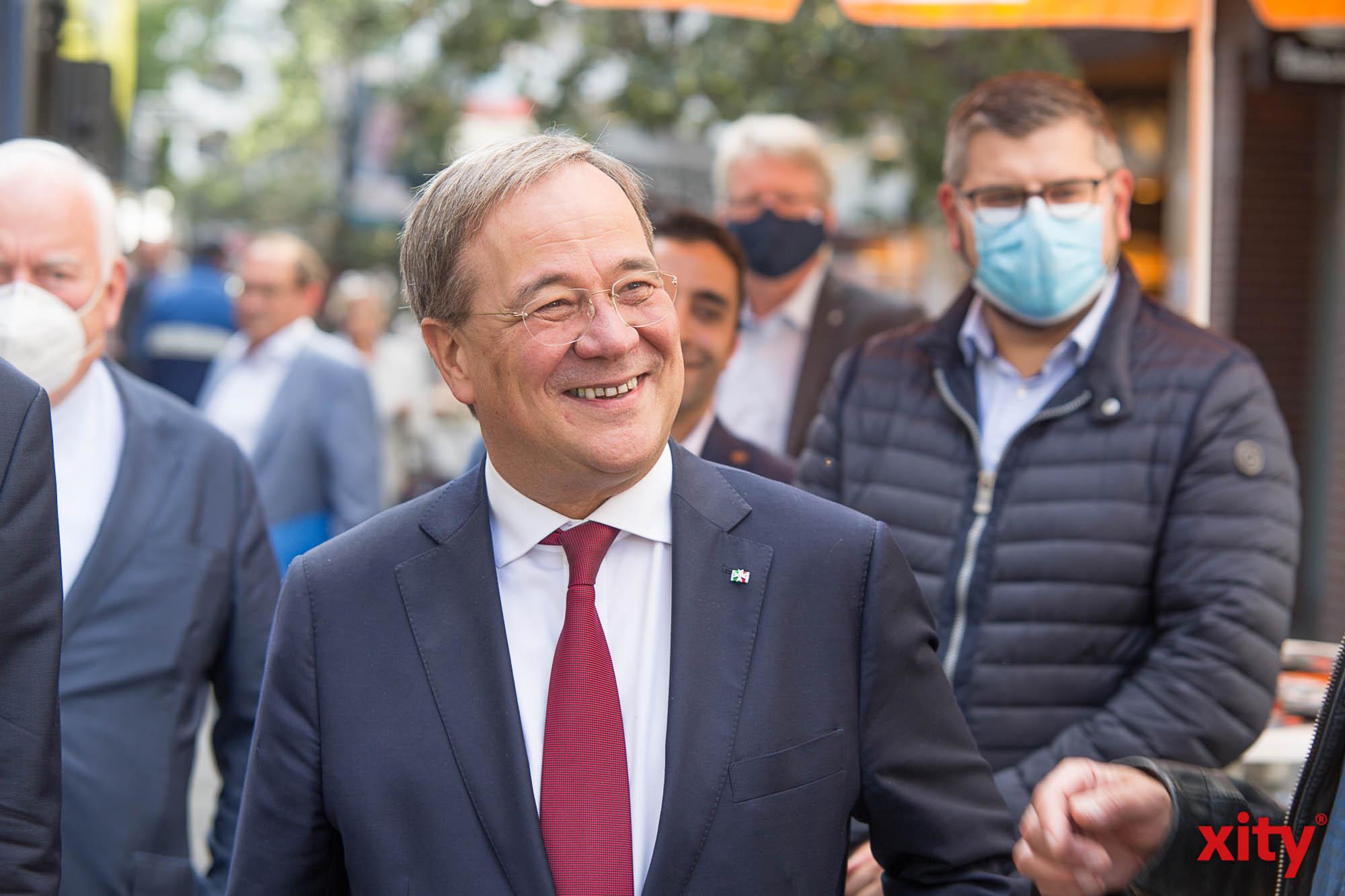 Der NRW-Ministerpräsident Armin Laschet zu Besuch in Düsseldorf (Foto: xity)